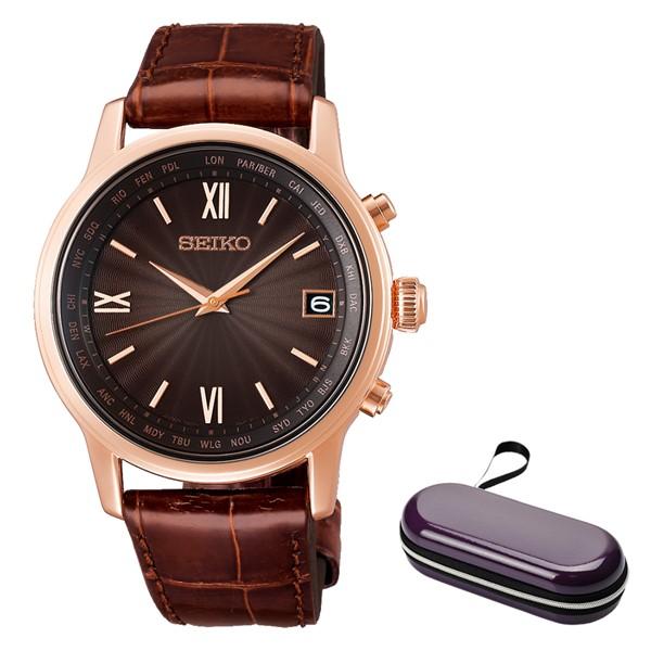 (時計ケースセット)(国内正規品)(セイコー)SEIKO 腕時計 SAGZ098 (ブライツ)BRIGHTZ メンズ(ワニ革バンド 電波ソーラー アナログ)