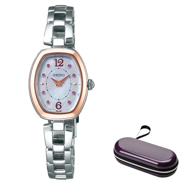 (4月新商品)(時計ケースセット)(国内正規品)(セイコー)SEIKO 腕時計 SWFA184 セイコーセレクション レディース 2019 母の日 限定モデル(ステンレスバンド ソーラー アナログ)