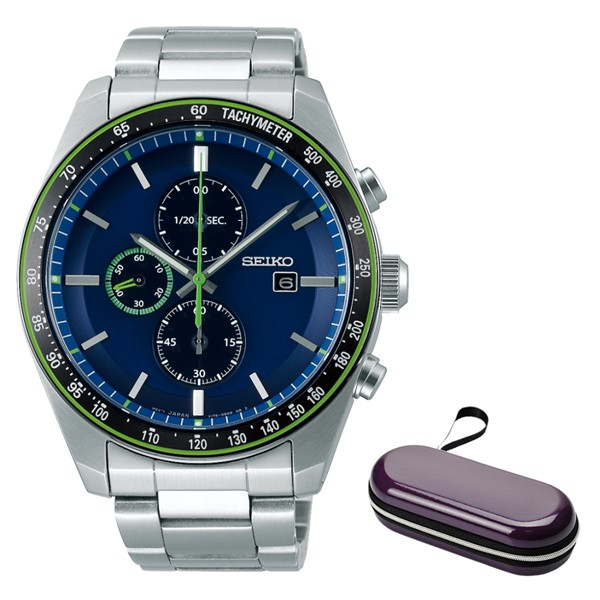 (時計ケースセット)(国内正規品)(セイコー)SEIKO 腕時計 SBPY145 セイコーセレクション メンズ クロノグラフ アスレジャー 流通モデル(ステンレスバンド ソーラー 多針アナログ):ホームショッピング