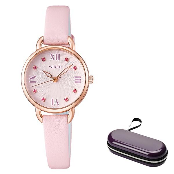 (4月新商品)(4月19日発売予定)(時計ケースセット)(国内正規品)(セイコー)SEIKO 腕時計 AGEK443 (ワイアードエフ)WIREDf レディース(牛革バンド クオーツ アナログ)