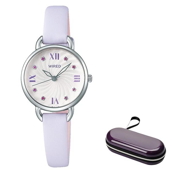 (4月新商品)(4月19日発売予定)(時計ケースセット)(国内正規品)(セイコー)SEIKO 腕時計 AGEK444 (ワイアードエフ)WIREDf レディース(牛革バンド クオーツ アナログ)