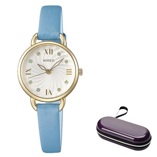 (4月新商品)(4月19日発売予定)(時計ケースセット)(国内正規品)(セイコー)SEIKO 腕時計 AGEK445 (ワイアードエフ)WIREDf レディース(牛革バンド クオーツ アナログ)