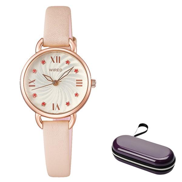 (4月新商品)(4月19日発売予定)(時計ケースセット)(国内正規品)(セイコー)SEIKO 腕時計 AGEK446 (ワイアードエフ)WIREDf レディース(牛革バンド クオーツ アナログ)