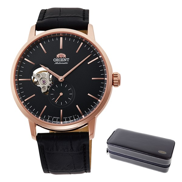 (時計ケースセット)(国内正規品)(オリエント)ORIENT 腕時計 RN-AR0103B (コンテンポラリー)CONTEMPORARY メンズ セミスケルトン(ステンレスバンド 自動巻き(手巻付) アナログ)