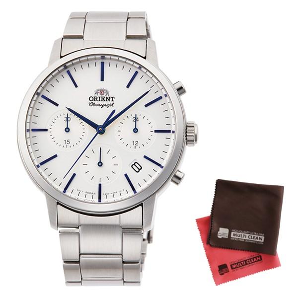 (クロスセット)(国内正規品)(オリエント)ORIENT 腕時計 RN-KV0302S (コンテンポラリー)CONTEMPORARY メンズ クロノグラフ(ステンレスバンド クオーツ 多針アナログ)