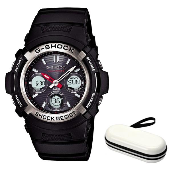 ※欠品中:納期8月上旬予定(時計ケースセット)(国内正規品)(カシオ)CASIO 腕時計 AWG-M100-1AJF (ジーショック)G-SHOCK メンズ(樹脂バンド 電波ソーラー アナデジ)