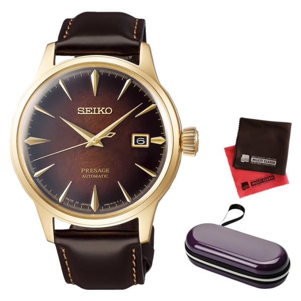 (時計ケース・クロスセット)(国内正規品)(セイコー)SEIKO 腕時計 SARY134 (プレザージュ)PRESAGE メンズ カクテルシリーズ 2019 限定モデル(牛革バンド 自動巻き(手巻付) アナログ)
