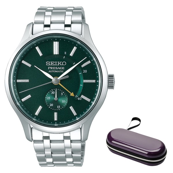 (時計ケースセット)(国内正規品)(セイコー)SEIKO 腕時計 SARY145 (プレザージュ)PRESAGE メンズ 日本庭園(ステンレスバンド 自動巻き(手巻付) アナログ)