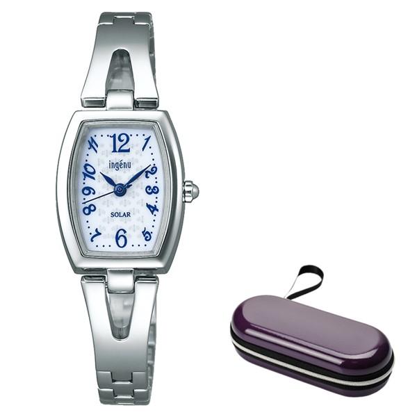 (時計ケースセット)(国内正規品)(セイコー)SEIKO 腕時計 AHJD409 (アルバ)ALBA ingenu レディース(ステンレスバンド ソーラー アナログ)