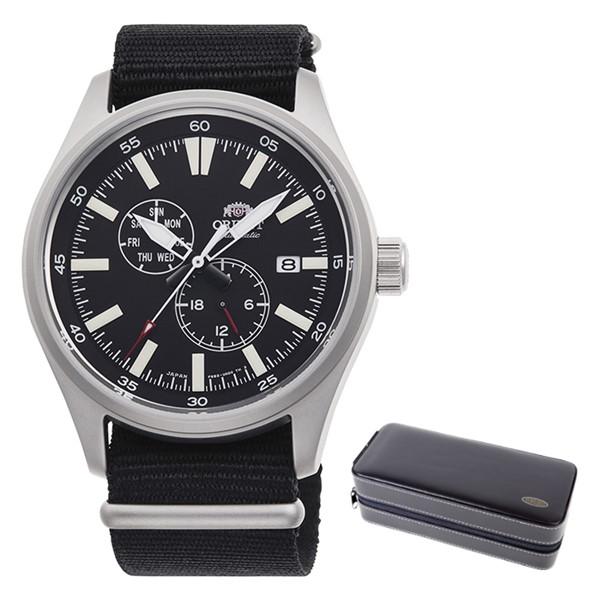(時計ケースセット)(国内正規品)(オリエント)ORIENT 腕時計 RN-AK0404B (スポーツ)SPORTS メンズ(ナイロンバンド 自動巻き(手巻付) 多針アナログ)