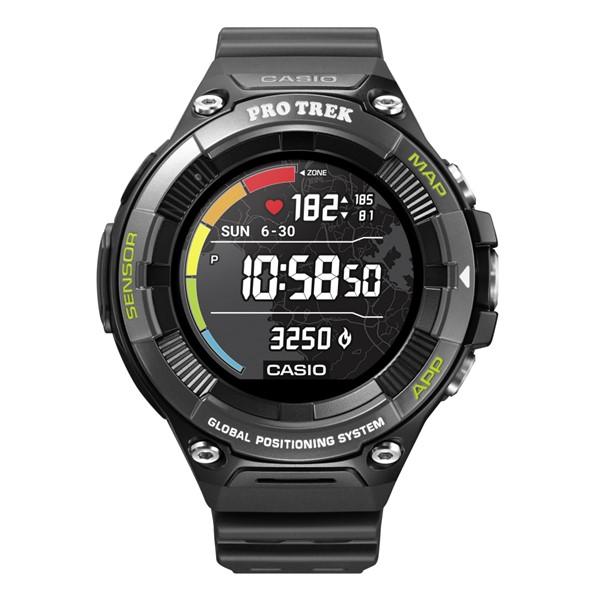 (国内正規品)(カシオ)CASIO 腕時計 WSD-F21HR-BK PROTREK(プロトレック) スマートアウトドアウォッチ メンズ ブラック 心拍計測×地図表示(GPS タッチパネルディスプレイ)