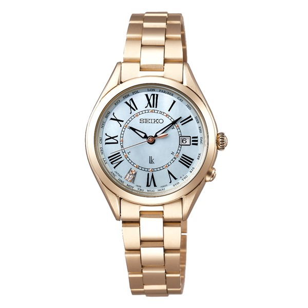 (国内正規品)(セイコー)SEIKO 腕時計 SSQV068 LUKIA(ルキア) レディース Lady Gold(チタンバンド 電波ソーラー アナログ)