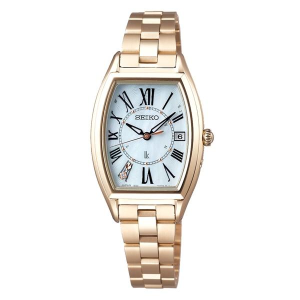 (国内正規品)(セイコー)SEIKO 腕時計 SSQW046 LUKIA(ルキア) レディース Lady Gold(チタンバンド 電波ソーラー アナログ)
