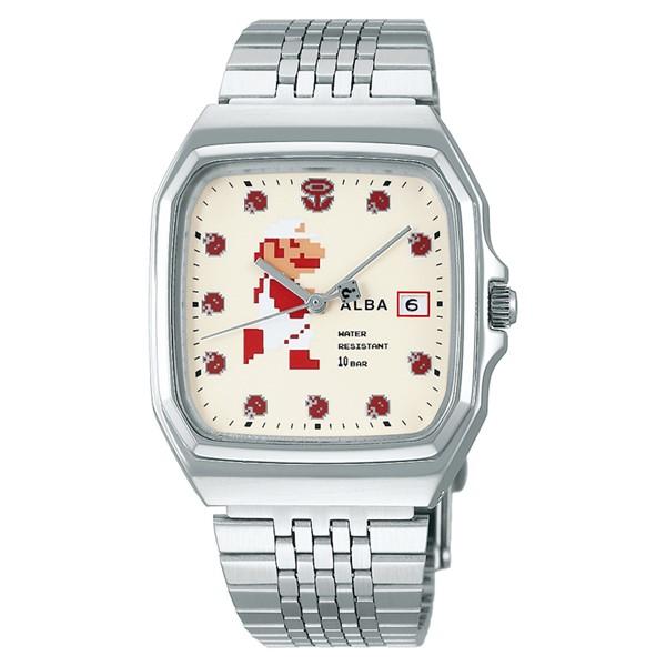 (国内正規品)(セイコー)SEIKO 腕時計 ACCK421 (アルバ)ALBA メンズ レディース スーパーマリオコラボ「ファミコンマリオ」(ステンレスバンド クオーツ アナログ)