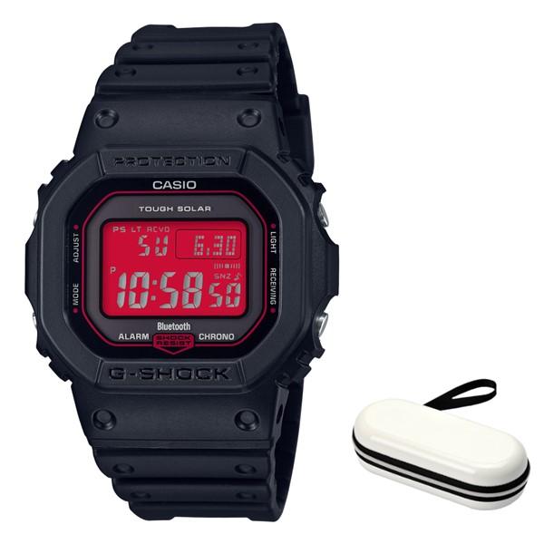 (時計ケースセット)(国内正規品)(カシオ)CASIO 腕時計 GW-B5600AR-1JF (ジーショック)G-SHOCK メンズ Black and Red Series Bluetooth搭載(樹脂バンド 電波ソーラー デジタル)