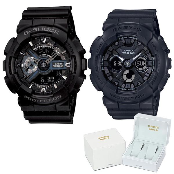 (ペア箱入りセット)(国内正規品)(カシオ)CASIO 腕時計 GA-110-1BJF メンズ・BA-130-1AJF レディース G-SHOCK&BABY-G(樹脂バンド クオーツ アナデジ ペアウォッチ)