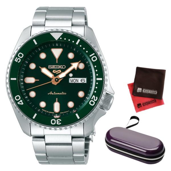 (時計ケース・クロスセット)(国内正規品)(セイコー)SEIKO 腕時計 SBSA013 (5スポーツ)SEIKO 5 SPORTS メカニカル Sports 流通限定モデル(ステンレスバンド 自動巻き(手巻付) アナログ)