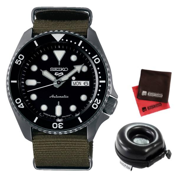 (時計ケース丸型・クロスセット)(国内正規品)(セイコー)SEIKO 腕時計 SBSA023 (5スポーツ)SEIKO 5 SPORTS メカニカル Sports 流通限定モデル(ナイロンバンド 自動巻き(手巻付) アナログ)