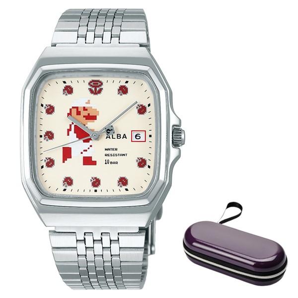 (時計ケースセット)(国内正規品)(セイコー)SEIKO 腕時計 ACCK421 (アルバ)ALBA メンズ レディース スーパーマリオコラボ「ファミコンマリオ」(ステンレスバンド クオーツ アナログ)
