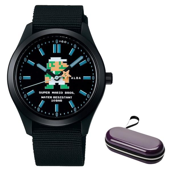(時計ケースセット)(国内正規品)(セイコー)SEIKO 腕時計 ACCK423 (アルバ)ALBA メンズ レディース スーパーマリオコラボ「アクティブマリオ」(ナイロンバンド クオーツ アナログ)