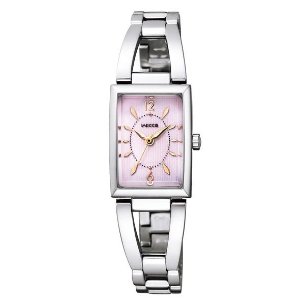(国内正規品)(シチズン)CITIZEN 腕時計 KF7-511-91 (ウィッカ)wicca レディース スクエアソーラー(ステンレスバンド ソーラー アナログ)