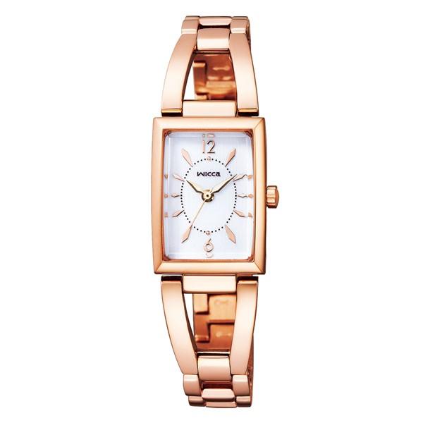 (国内正規品)(シチズン)CITIZEN 腕時計 KF7-562-11 (ウィッカ)wicca レディース スクエアソーラー(ステンレスバンド ソーラー アナログ)
