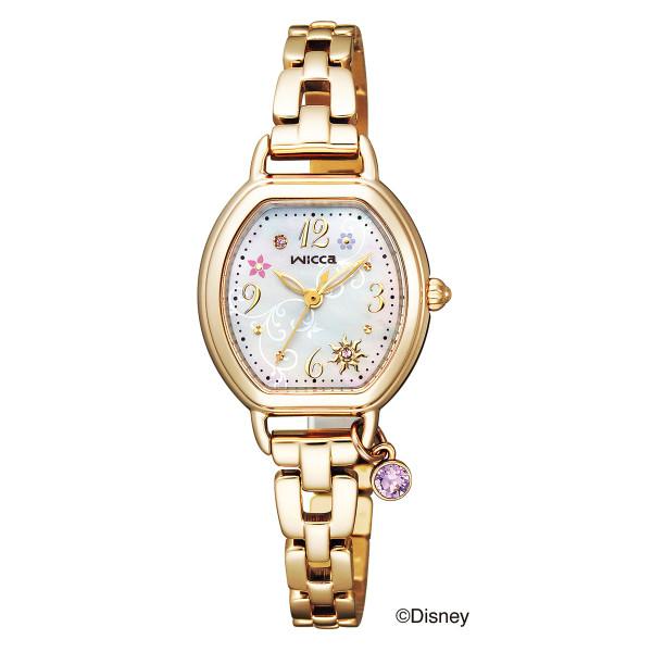 (11月新商品)(国内正規品)(シチズン)CITIZEN 腕時計 KP2-523-91 (ウィッカ)wicca レディース Disneyコレクション 塔の上のラプンツェル 限定モデル(ステンレスバンド ソーラー アナログ)
