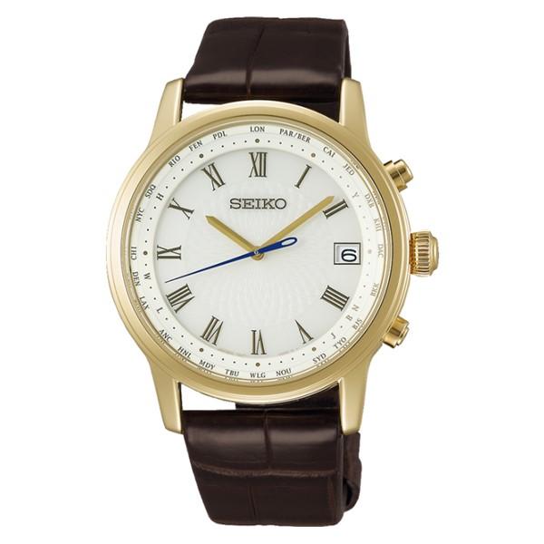 (国内正規品)(セイコー)SEIKO 腕時計 SAGZ102 (ブライツ)BRIGHTZ メンズ Bespoke Tailor Dittos. Limited Edition 限定モデル(ワニ革バンド 電波ソーラー アナログ)