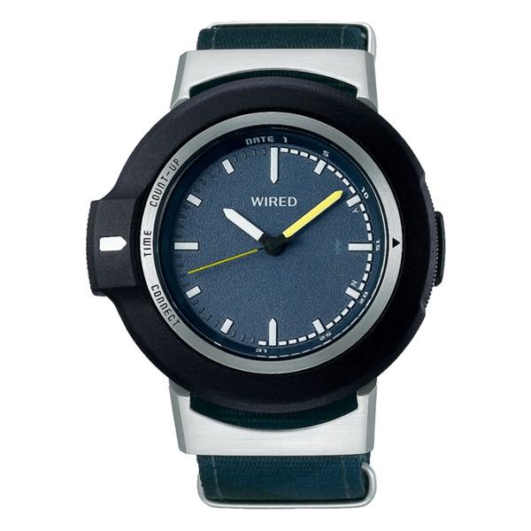 (国内正規品)(セイコー)SEIKO 腕時計 AGAB404 (ワイアード)WIRED WW ツーダブ メンズ Bluetooth搭載(ナイロンバンド クオーツ アナログ)