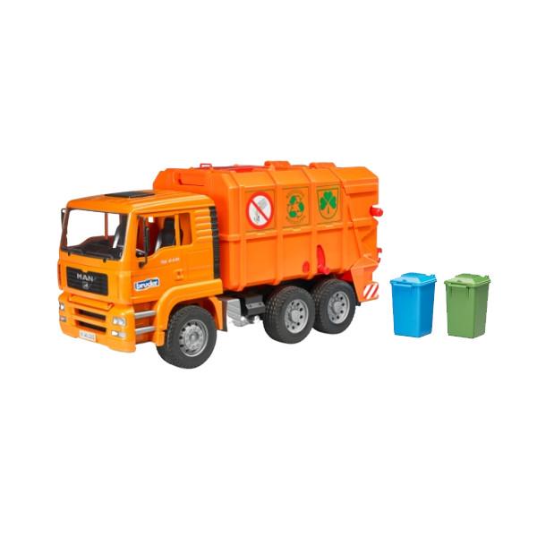 Bruder Pro Series(ブルーダープロシリーズ) 1/16知育玩具 MAN ごみ収集車 オレンジ BR02760 【玩具/おもちゃ】