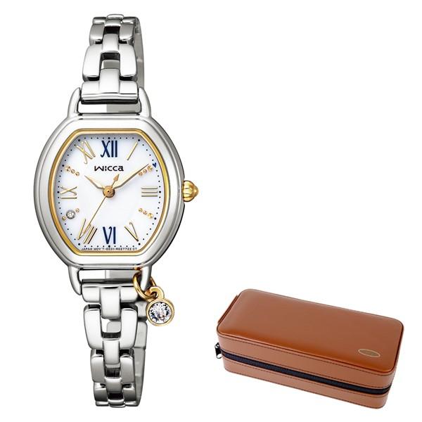 (10月新商品)(時計ケースセット)(国内正規品)(シチズン)CITIZEN 腕時計 KP2-515-13 (ウィッカ)wicca レディース #ときめくダイヤ(ステンレスバンド ソーラー アナログ)