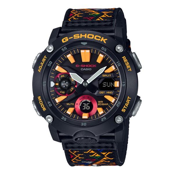 (11月新商品)(国内正規品)(カシオ)CASIO 腕時計 GA-2000BT-1AJR (ジーショック)G-SHOCK メンズ ブータン王国 伝統柄 タイアップ 限定モデル(革/クロスバンド クオーツ アナデジ)
