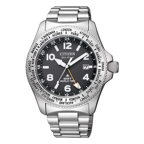 (シチズン)CITIZEN 腕時計 BJ7100-82E (プロマスター)PROMASTER メンズ LANDシリーズ エコドライブ GMT ステンレスバンド ソーラー アナログ(国内正規品)