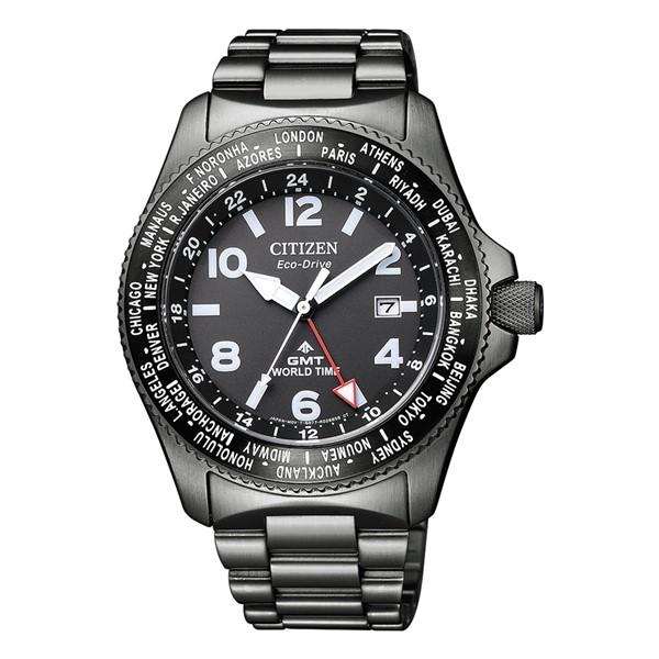 (シチズン)CITIZEN 腕時計 BJ7107-83E (プロマスター)PROMASTER メンズ LANDシリーズ エコドライブ GMT ステンレスバンド ソーラー アナログ(国内正規品)
