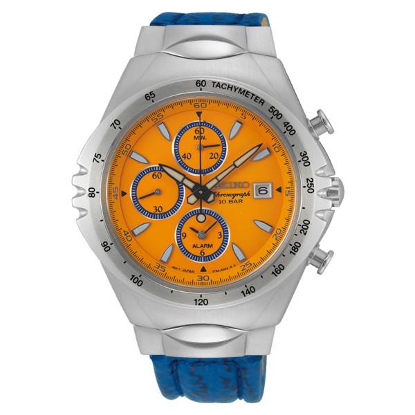 (国内正規品)(セイコー)SEIKO 腕時計 SNAF83PC メンズ ジウジアーロ・デザイン リミテッドエディション マッキナ・スポルティーバ 復刻 シエナ・オレンジ 流通限定(牛革バンド クオーツ 多針アナログ)