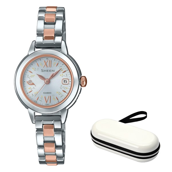(11月新商品)(時計ケースセット)(国内正規品)(カシオ)CASIO 腕時計 SHW-5200DSG-7AJF (シーン)SHEEN レディース ナチュラルガーデン(ステンレスバンド 電波ソーラー アナログ)