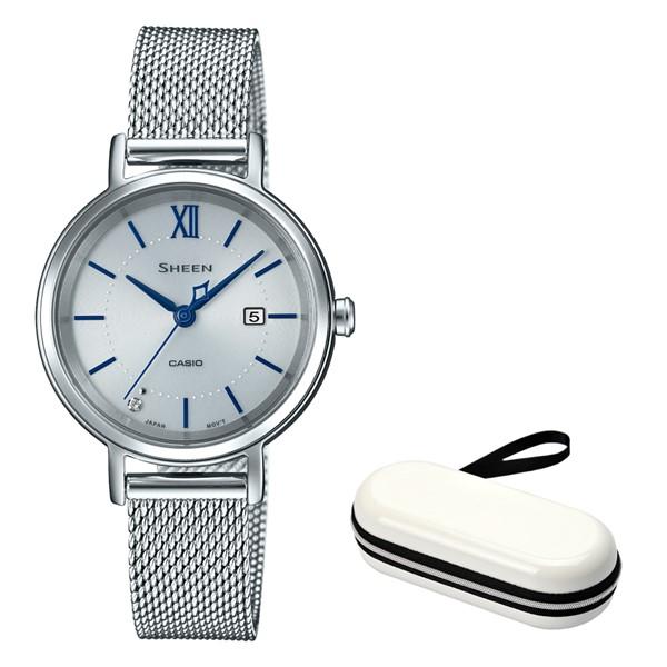 (11月新商品)(時計ケースセット)(国内正規品)(カシオ)CASIO 腕時計 SHS-D300M-7AJF (シーン)SHEEN レディース(ステンレスバンド ソーラー アナログ)