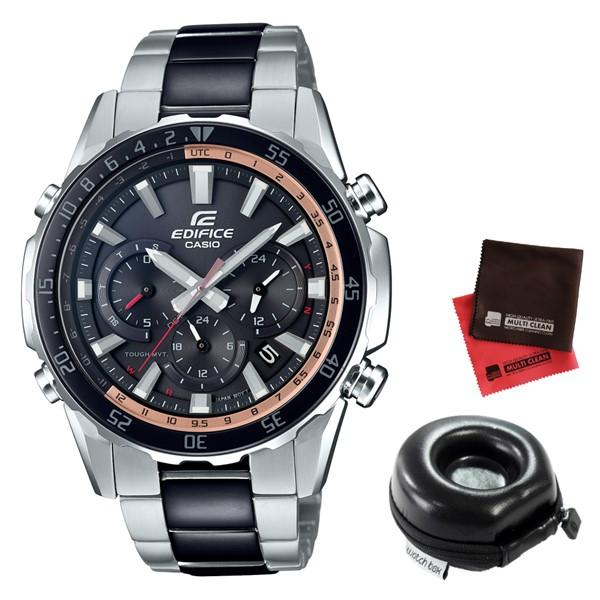 (11月新商品)(時計ケース丸型・クロスセット)(国内正規品)(カシオ)CASIO 腕時計 EQW-T670SBK-1AJF (エディフィス)EDIFICE メンズ(ステンレスバンド 電波ソーラー 多針アナログ)