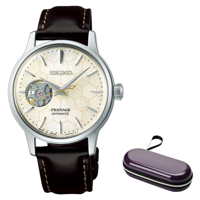 (時計ケースセット)(セイコー)SEIKO 腕時計 SRRY039 (プレザージュ)PRESAGE レディース ペアモデル ベーシックライン カクテルタイム STAR BAR 限定モデル 牛革バンド 自動巻き(手巻付) アナログ(国内正規品)