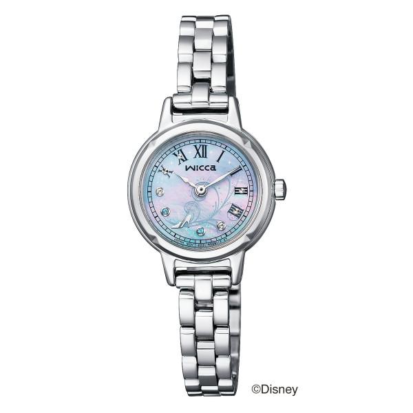 (4月新商品)(シチズン)CITIZEN 腕時計 KP3-619-97 (ウィッカ)wicca レディース Disneyコレクション ディズニーアニメーション「シンデレラ」 限定モデル ステンレスバンド ソーラー アナログ(国内正規品)