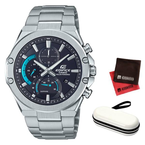 (時計ケース・クロスセット)(カシオ)CASIO 腕時計 EFS-S560YD-1AJF (エディフィス)EDIFICE メンズ Slim Line ステンレスバンド ソーラー 多針アナログ(国内正規品)