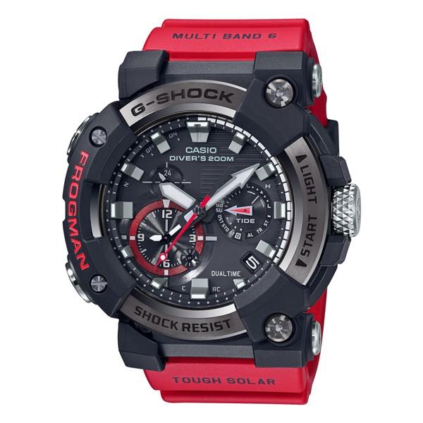 (カシオ)CASIO 腕時計 GWF-A1000-1A4JF (ジーショック)G-SHOCK FROGMAN フロッグマン MASTER OF G メンズ Bluetooth搭載 樹脂バンド 電波ソーラー 多針アナログ(国内正規品)