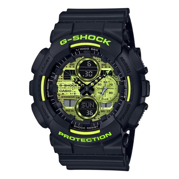 (カシオ)CASIO 腕時計 GA-140DC-1AJF (ジーショック)G-SHOCK メンズ Black and Yellow Series 樹脂バンド クオーツ アナデジ(国内正規品)