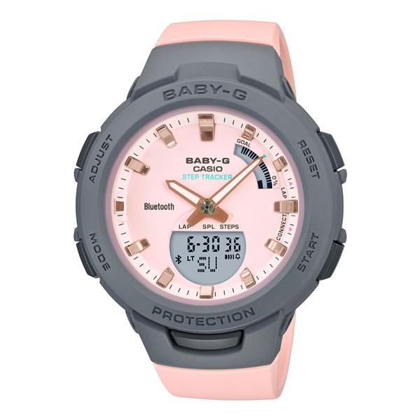 (カシオ)CASIO 腕時計 BSA-B100MC-4AJF (ベビーG)BABY-G レディース G-SQUAD Bluetooth搭載 樹脂バンド クオーツ アナデジ(国内正規品)