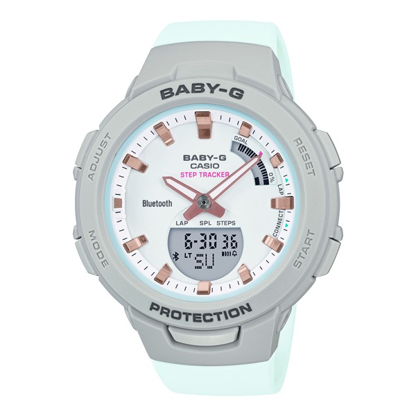 (カシオ)CASIO 腕時計 BSA-B100MC-8AJF (ベビーG)BABY-G レディース G-SQUAD Bluetooth搭載 樹脂バンド クオーツ アナデジ(国内正規品)