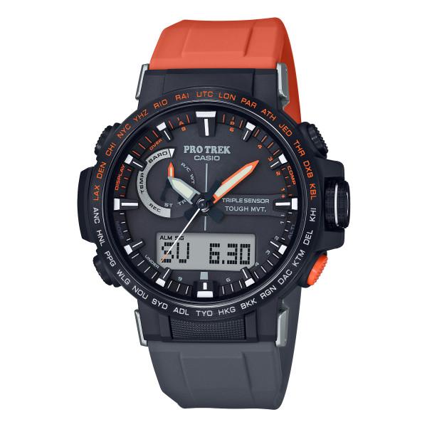 (カシオ)CASIO 腕時計 PRW-60YJP-1JR PROTREK(プロトレック) メンズ 日本フリークライミング協会・PETZL コラボモデル シリコンバンド 電波ソーラー アナデジ(国内正規品)