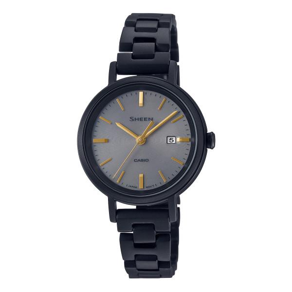 (カシオ)CASIO 腕時計 SHS-D300FG-1AJR (シーン)SHEEN レディース FUDGE コラボ 限定モデル ステンレスバンド ソーラー アナログ(国内正規品)
