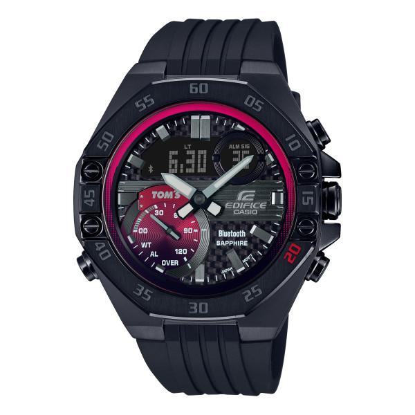 (カシオ)CASIO 腕時計 ECB-10TMS-1AJR (エディフィス)EDIFICE メンズ TOM'S コラボ 限定モデル Bluetooth搭載 樹脂バンド クオーツ アナデジ(国内正規品)