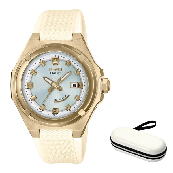 (時計ケースセット)(カシオ)CASIO 腕時計 MSG-W300G-7AJF (ベビーG)BABY-G レディース G-MS 樹脂バンド 電波ソーラー アナログ(国内正規品)