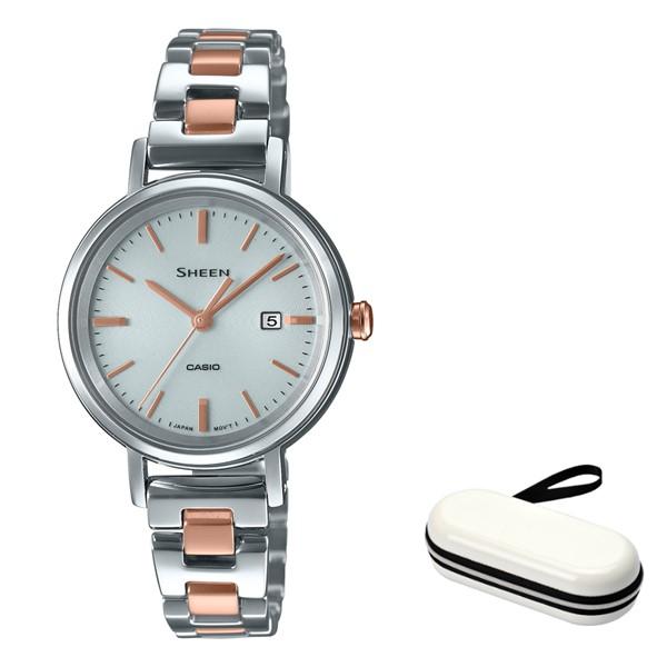 (時計ケースセット)(カシオ)CASIO 腕時計 SHS-D300SG-7AJF (シーン)SHEEN レディース ステンレスバンド ソーラー アナログ(国内正規品)